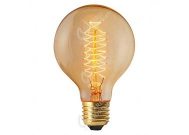 Ampoule Globe Filament Spiralé E27 - Allumée - Girard Sudron