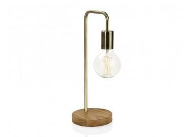 Lampe courbe laiton et bois - Andrea House