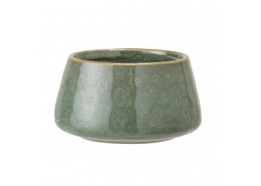 Bougeoir vert bas en céramique - Bloomingville