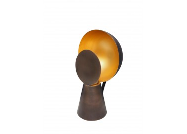 Lampe Hide & Seek noir et or - Chehoma