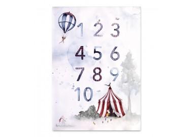 Affiche Numbers A4 - Leo la douce