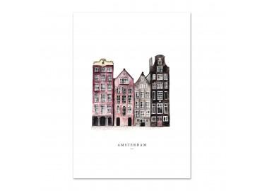 Affiche Amsterdam A4 - Leo la douce
