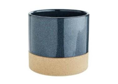 Pot en céramique bicolore bleu - Madam Stoltz