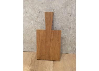 Petite planche à découper en chêne clair (17,5x13,5x1,2 cm + 9 cm) - Raumgestalt