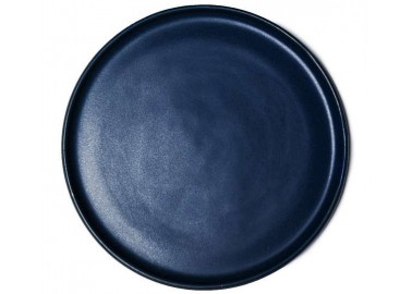 Grande assiette Aube bleu nuit - Vue haut - Goberlote