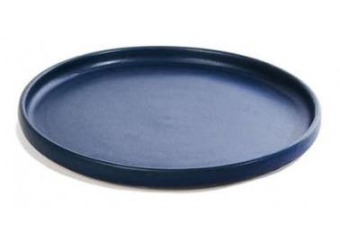 Assiette à dessert Aube bleu nuit - Goberlote