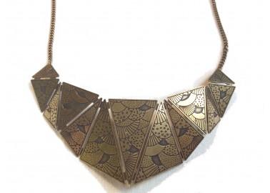 Collier Plastron Origami - Amélie Blaise