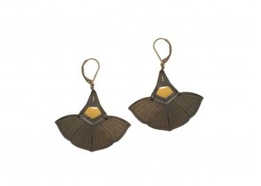 Boucles d'oreilles Volubilis jaune - Amélie Blaise
