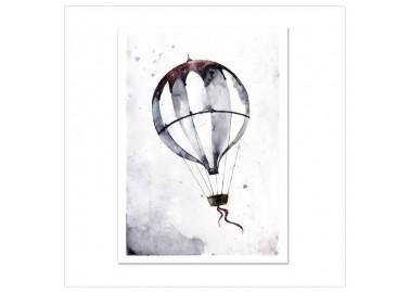 Affiche Flying balloon A4 - Leo la douce