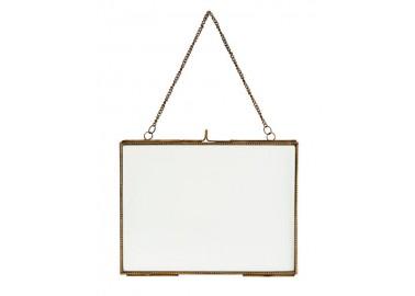 Cadre doré horizontal avec chaînette - Madam Stoltz