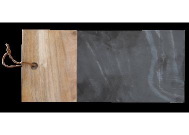Planche en ardoise et bois longue - Au Maison