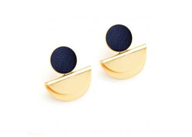 Boucles d'oreilles Cléo - Bleu marine - Barbarisme
