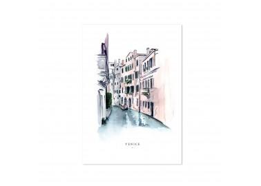 Affiche Venise A4 - Leo la douce