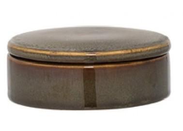 Petite boîte en céramique marron - Bloomingville