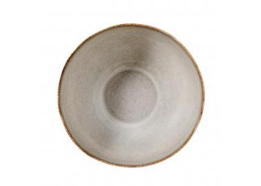 Saladier beige en céramique - Vue de haut - Bloomingville