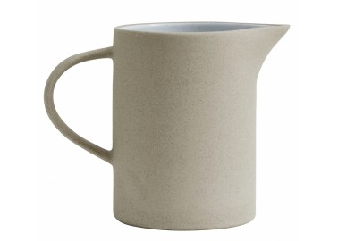 Pichet en céramique beige et blanc - Nordal