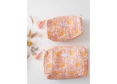 Trousse medium Suri rose - Bindi Atelier