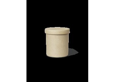 Pot avec couvercle en porcelaine effet brut - Ferm Living