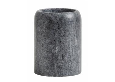 Pot à brosse à dent en marbre gris - Nordal