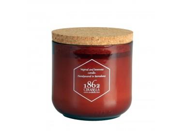 Bougie Cire d'abeilles XL avec bouchon en liège 400g - Cerabella