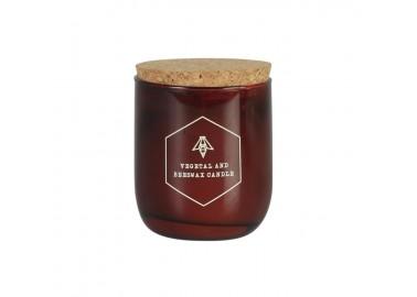 Bougie Cire d'abeilles avec bouchon en liège 160g - Cerabella