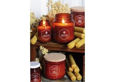 Bougie Cire d'abeilles avec bouchon en liège 160g - Collection - Cerabella