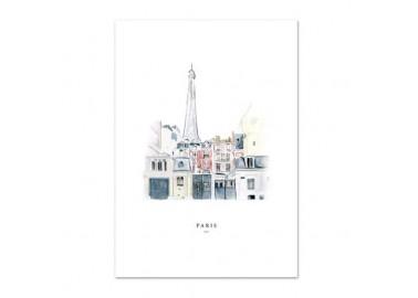 Affiche Paris A4 - Leo la douce