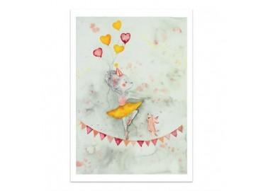Affiche Miss Ballerina A4 - Leo la douce