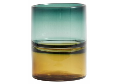 Vase bicolore ambre et turquoise - Nordal