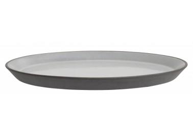 Assiette à dessert grise en céramique - Nordal