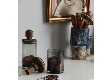 Bocal Salvie en verre L - Café - Nordal