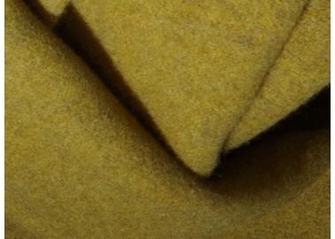 Plaid en laine et cachemire jaune et gris - Textile - Biederlack