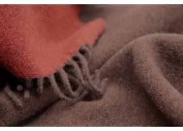 Plaid en laine et cachemire rouille et brun - Textile - Biederlack
