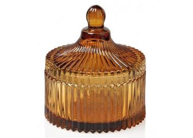 Boîte basse en verre ambre - Andrea House
