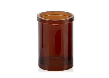 Pot à brosse à dent en verre ambré - Andrea House