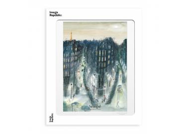 Affiche The New Yorker – Sempé – Quartier nuit 30x40 - Image Republic