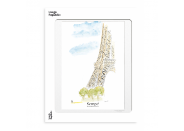 Affiche The New Yorker – Sempé – Tour Eiffel 30x40 - Image Republic