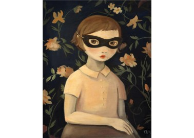 Affiche – Masked Evaline With Floral Wallpaper - Emily Winfield Martin