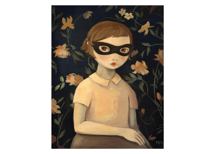 Affiche – Masked Evaline With Floral Wallpaper