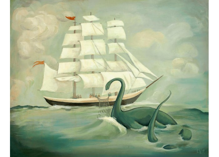 Affiche – The Unsuccessful Capture of the Great New England Sea Monster