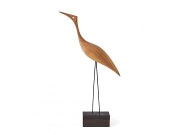 Oiseau en bois - Tall Heron - Warm Nordic