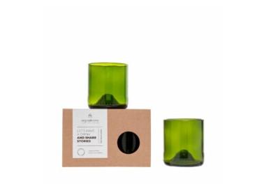Set de 2 verres en bouteilles de vin recyclées – Taille S - Recyclage - Original Home