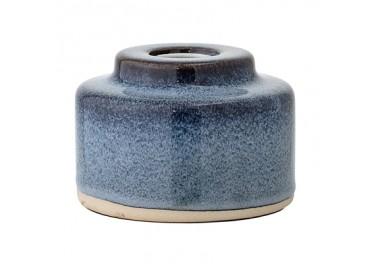 Lampe à poser bleue en céramique - Socle - Bloomingville