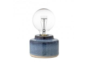Lampe à poser bleue en céramique - Bloomingville