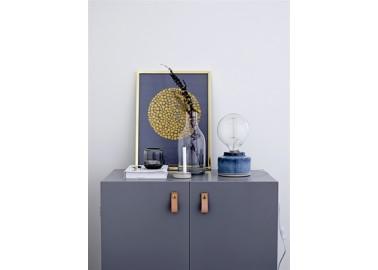 Lampe à poser bleue en céramique - Salon - Bloomingville