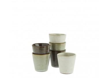 Lot de 6 tasses à café en céramique - Madam Stoltz