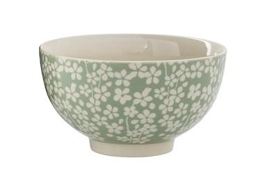 Petit bol vert et blanc à motifs - Bloomingville