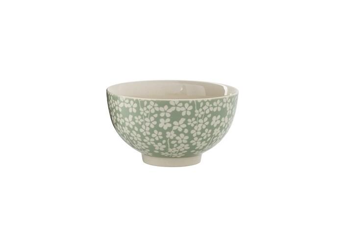 Petit bol vert et blanc à motifs