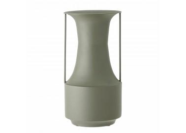Grand vase en métal vert avec anse - Bloomingville