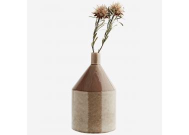 Vase en grès rose - Fleurs - Madam Stoltz